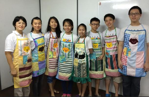 Aprons at Sunday School