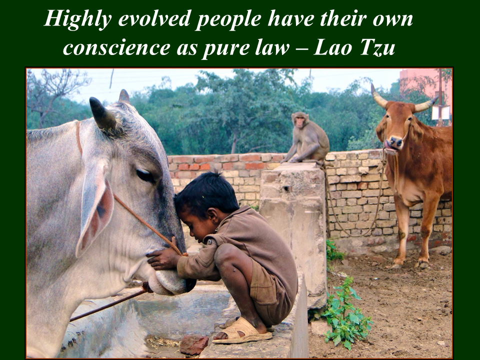 Highly evolved people have their own conscience as