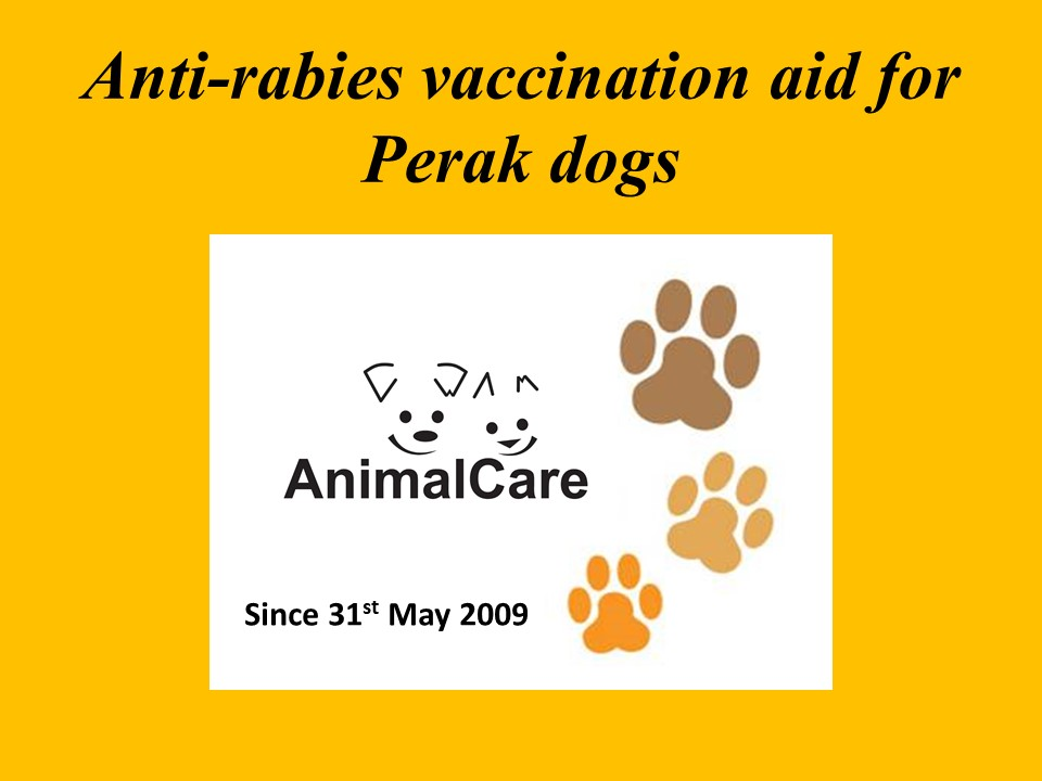 Neutering And Anti-Rabies Vaccination Aid For Perak (a Special Project)